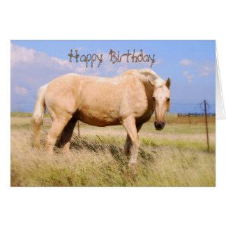 Happy Birthday Palomino Horse Card