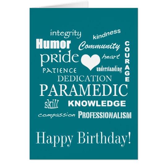 Happy Birthday Paramedic Emt Card Zazzle Com