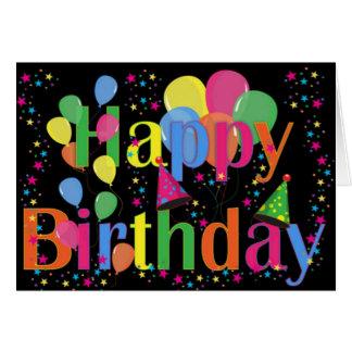 Happy Birthday Party Balloons Card