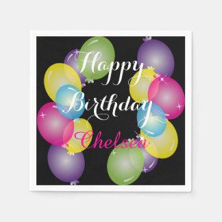 Happy Birthday Party Balloons Paper Napkin
