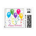 Happy Birthday Party Balloons stamp