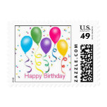 Happy Birthday Party Balloons Postage Stamp