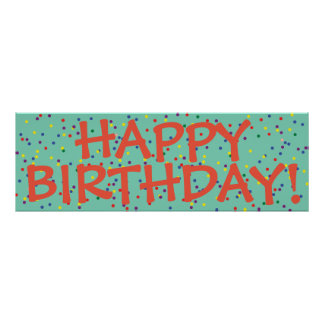 Happy Birthday party banner poster