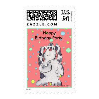 Happy Birthday Party Bunny Custom Stamps