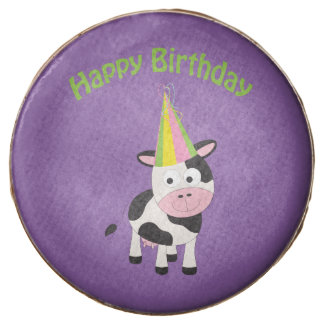 Happy Birthday! Party Cow Chocolate Dipped Oreo