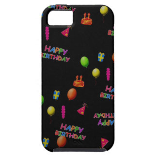Happy Birthday Party Decor Balloons Hat Cake Text iPhone SE/5/5s Case