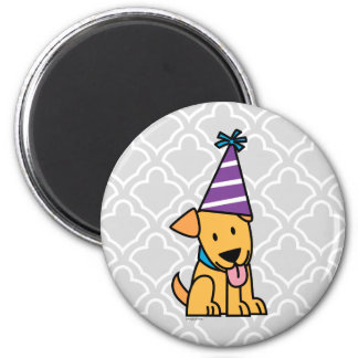 Happy Birthday Party Lab puppy Magnet