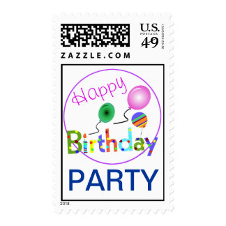 Happy Birthday Party Stamp