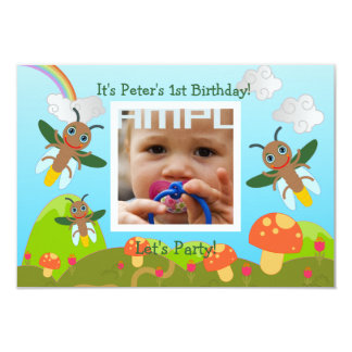 Happy Birthday Party with firefly Card