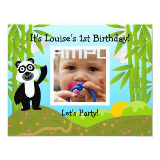 Happy Birthday Party with panda bear Card
