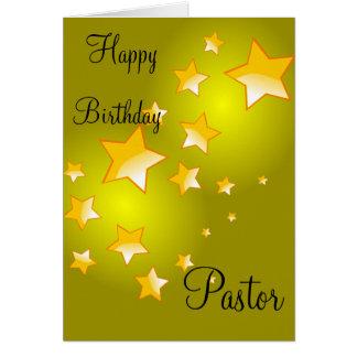 Happy Birthday Pastor Card
