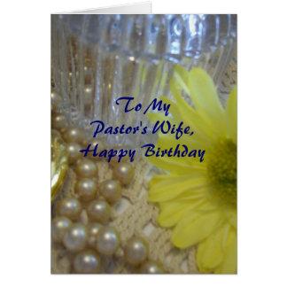 Happy Birthday Pastor's Wife - Daisy Card