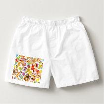Happy Birthday Pattern Illustration Boxers
