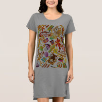 Happy Birthday Pattern Illustration Dress