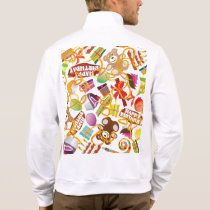 Happy Birthday Pattern Illustration Jacket
