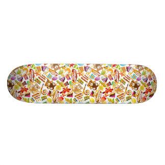 Happy Birthday Pattern Illustration Skateboard