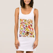 Happy Birthday Pattern Illustration Sleeveless Dress