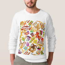 Happy Birthday Pattern Illustration Sweatshirt
