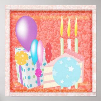 HAPPY Birthday  Pattern Poster