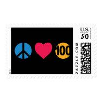Happy Birthday - Peace Love 100 Postage