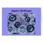 Happy Birthday-Peace Signs/Camo Look-Card Card