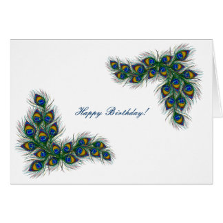 peacock feather frame card