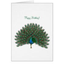 Happy Birthday ! - Peacock greeting card