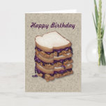 Happy Birthday Peanut Butter and Jelly Sandwiches Card