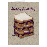 Happy Birthday Peanut Butter and Jelly Sandwiches Greeting Card