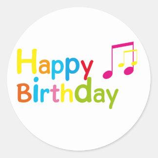 Happy Birthday Etiqueta Redonda