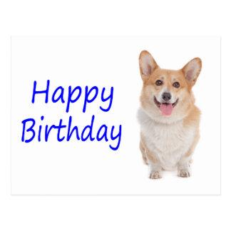 Happy Birthday Pembroke Corgi Puppy Dog  Postcard