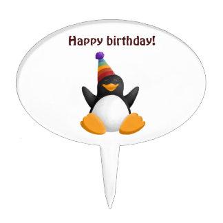 Happy Birthday Penguin Cake Topper