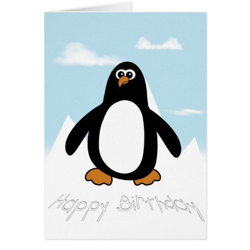 Happy Birthday Penguin Card