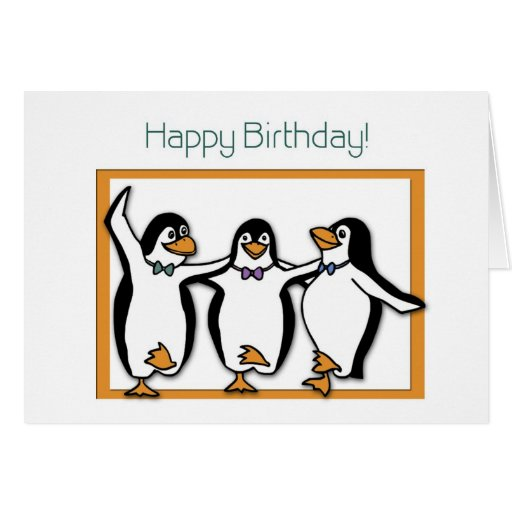 Happy Birthday Penguins Card
