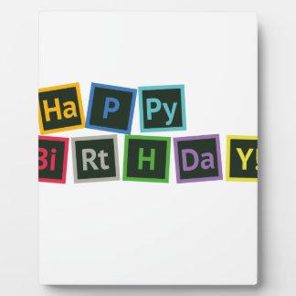 Happy Birthday Periodic Plaque