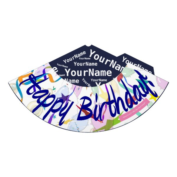 Happy Birthday (Personalize) Party Hat