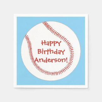 Happy Birthday Personalized Baseball Napkins