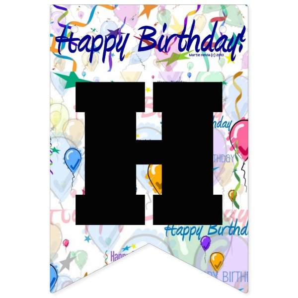 Happy Birthday Personalized Bunting Flags