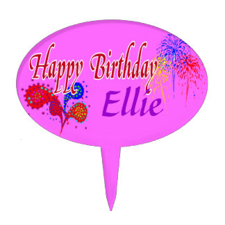 Happy Birthday -Personalized Cake Pick