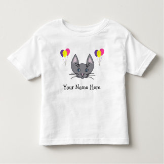 Happy Birthday Personalized Cat T-Shirt