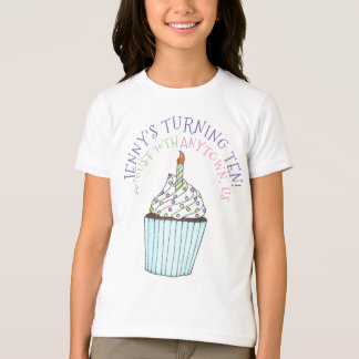 Happy Birthday Personalized Cupcake Cake Party T-Shirt