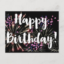 Happy birthday Personalized hand written note Card