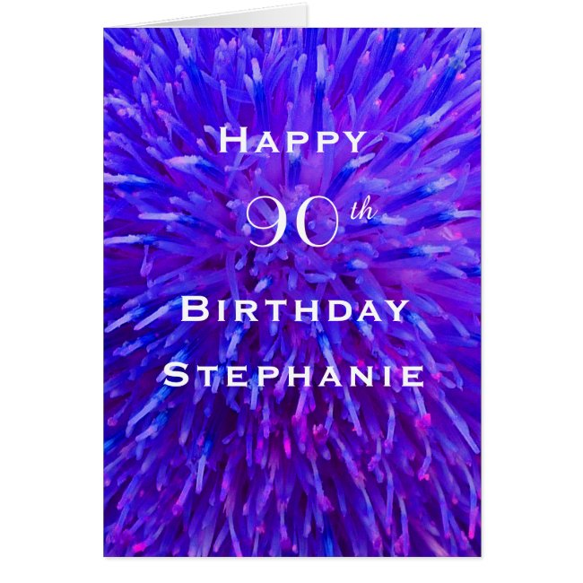 Happy Birthday, Personalized, Purple Abstract