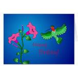 Happy Birthday Petunia with Hummingbird Cards