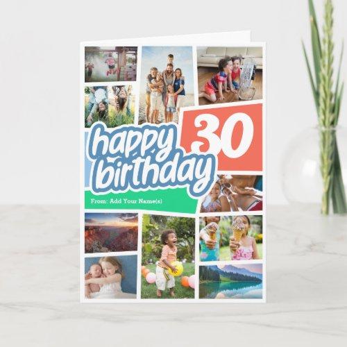 Happy Birthday Photo Collage Card