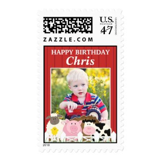 Happy Birthday Photo Medium Stamps