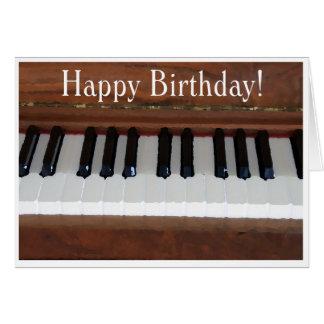 Happy Birthday Piano Greeting Card