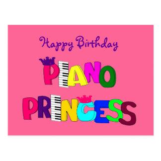 Happy Birthday Piano Princess Post Cards