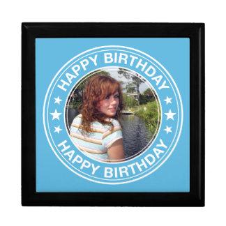 Happy Birthday Picture Frame in Blue Keepsake Box