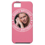 Happy Birthday picture Frame in Pink iPhone 5 Covers